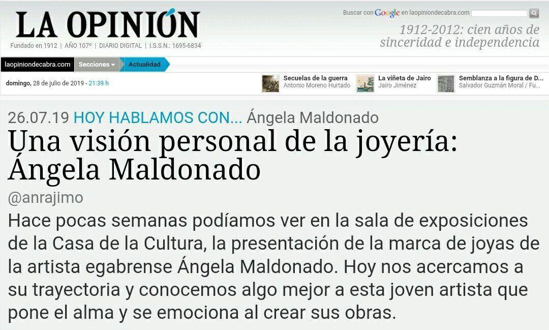 """Reportaje para """"La Opinión"""""""